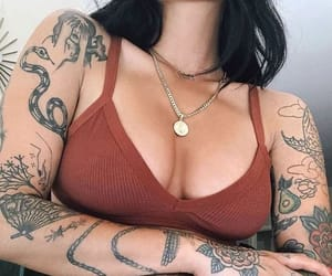 fashion, summer, and tattooedgirls image