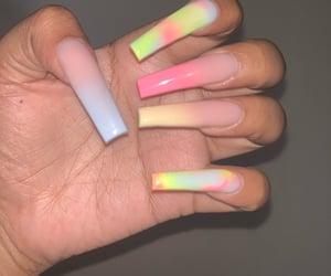 acrylics, yellow, and summer nails image