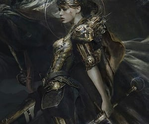 girl, art, and warrior image