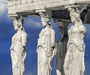 acropolis, Athens, and statue image