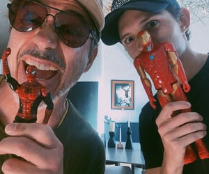 tom holland, iron man, and Marvel image