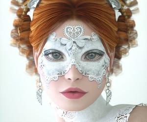 mask, masquerade, and redhead image