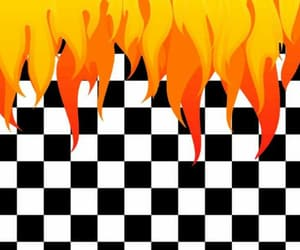 background, checkers, and flames image