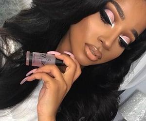 black hair, hot girl, and black girls image