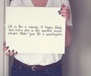 life, quote, and canvas image