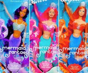 2002, mermaid hair, and barbie image