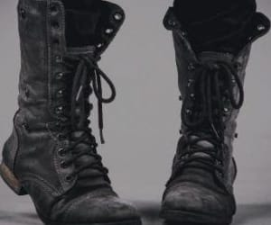 boots, combat boots, and soldier image