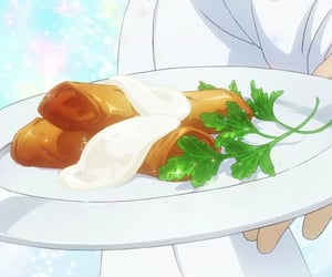 anime, delicious, and anime food image