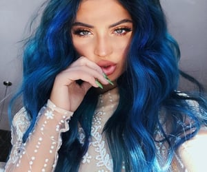 beautiful, blue hair, and color image