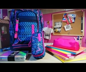 backpack, college, and girl image