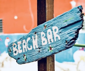 beach, sign, and summer image