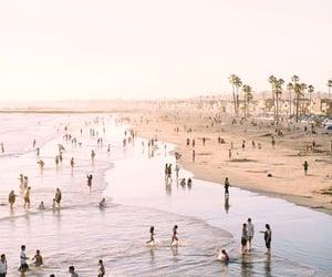 beach, ocean, and people image