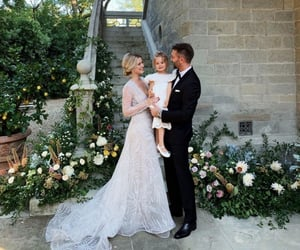 baby, family, and wedding image