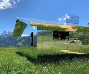 glass house image