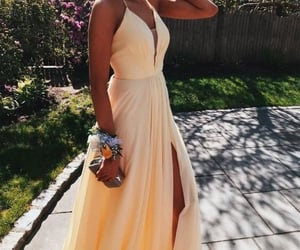 aesthetic, yellowvibes, and dress image