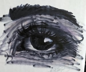 artist, drawing, and eye image