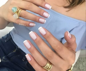 rings, nails, and summer nails image