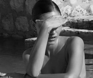black and white, summer, and phoebe tonkin image