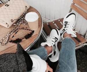 bag, coffee, and denim image