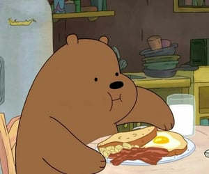 we bare bears, cartoon, and grizzly image
