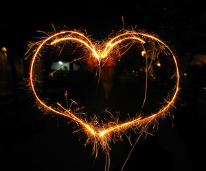 heart, love, and firework image