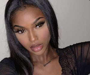 beautiful, black girl, and lace image