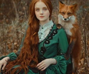fox, ginger, and girl image