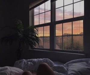 bed, sunset, and aesthetic image