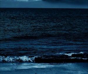 sea, blue, and dark image