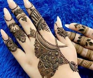 fashion, mehndi, and girly image