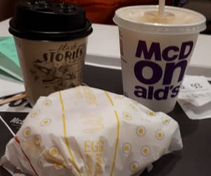 coffee, minute maid, and fastfood image