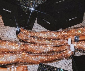 glitter, chanel, and girl image