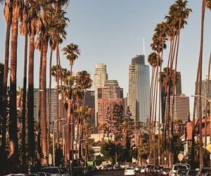 california, city, and downtown image