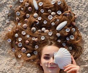 hair, seashells, and shells image