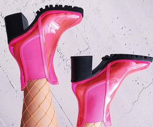 boots, clubwear, and pink image