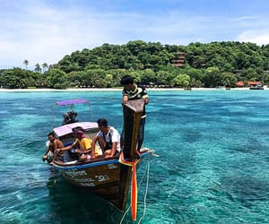 beach, boat, and krabi image