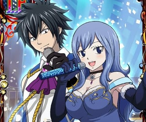 anime, couple, and gray fullbuster image