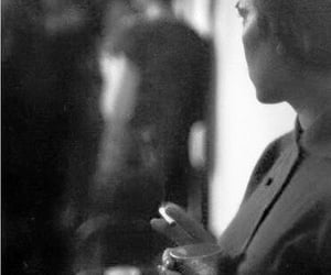 black and white, woman, and saul leiter image
