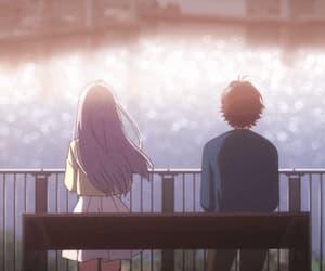 anime girl, gif, and scenery image