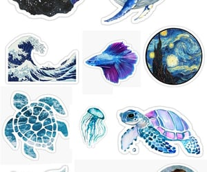 animal, blue, and stickers image