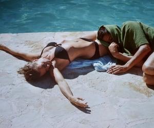 Alain Delon, la piscine, and pretty image