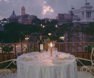 romantic, dinner, and italy image