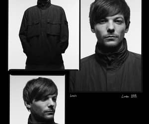 black and white and louis tomlinson image