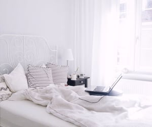bed, lux, and morning image