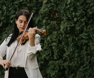 music, violin, and wedding image