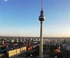 berlin, fernsehturm, and germany image