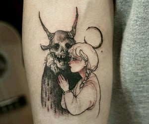 demon, girl, and ink image