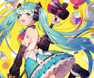 anime girl, two faced lover, and hatsune miku image