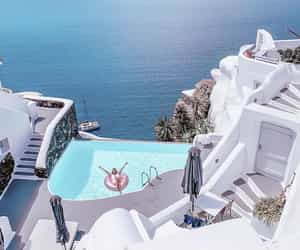 mood, photography, and santorini image