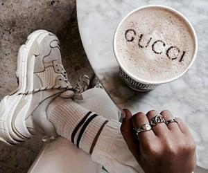 coffee, gucci, and fashion image